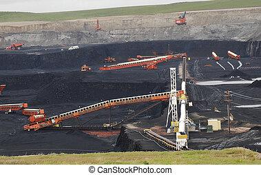 węgiel, kopać, wyoming