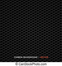 węgiel, tworzywo, wektor, -, włókno