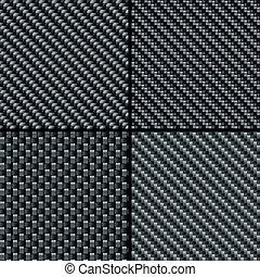węgiel, włókno, komplet, seamless, wzory