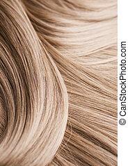 włosy, blond, struktura