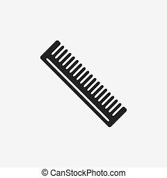 włosy, fryzjer, grzebień, czarnoskóry, ikona