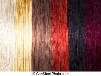 włosy, kolor, paleta