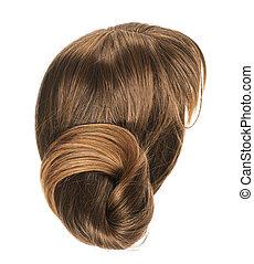 włosy, peruka, odizolowany