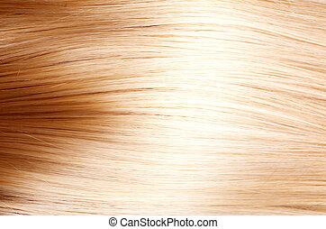 włosy, struktura, hair., blond, blondynka
