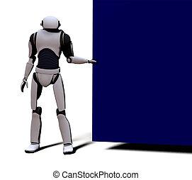 w/, android, zeichen