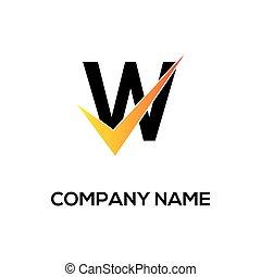 w initial logo company