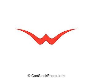 W lette logo vector template icon