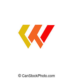 W letter initial icon logo design vector template