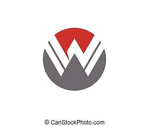 W Letter Logo Template vector