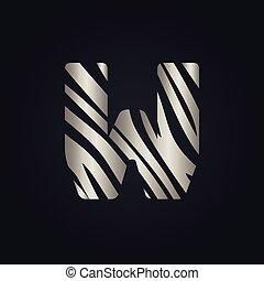 W letter logo vector design.