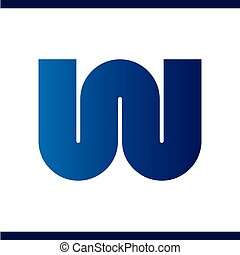 W Letter Round Logo Vector template