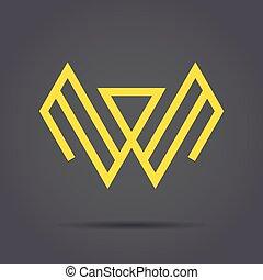 W letter sign