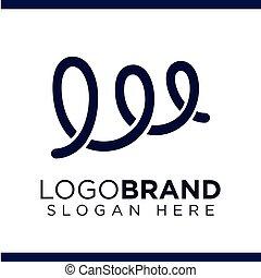 w Letter Spiral Logo Vector template