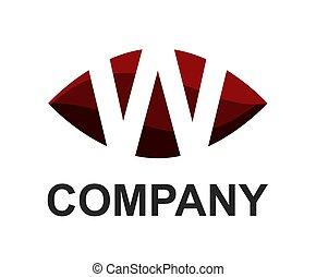 w logo in oval