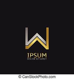 w, logo, lettre