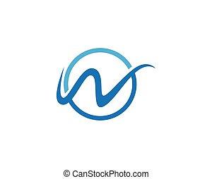 W logo vector template