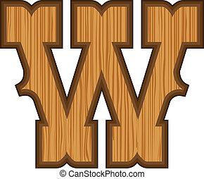 w, occidental, lettre
