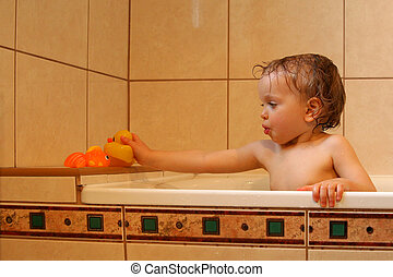 w, przedimek określony przed rzeczownikami, łazienka
