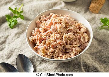 w puszkach, albacore, tuńczyk, organiczny