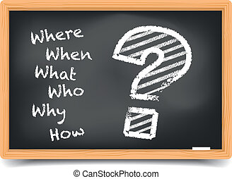 W-Questions - Where, When, What, Who, Why, How? written with...