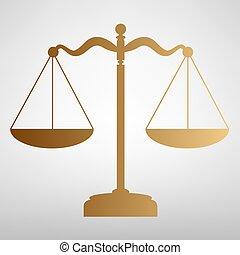 waage, gleichgewicht, zeichen