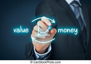 waarde, voor, geld
