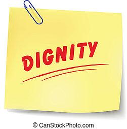 waardigheid, boodschap, vector