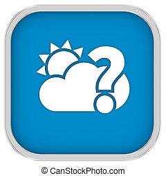 waarschijnlijk, bewolkt, meldingsbord, gedeeltelijk