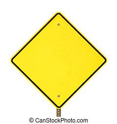 waarschuwend, black , geel teken
