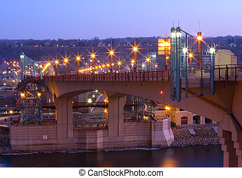 Wabasha Street Bridge at Night in Saint Paul