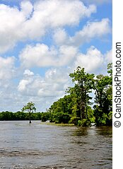 Waccamaw River with clouds - Waccamaw River with Clouds