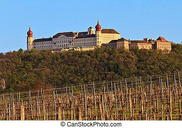 wachau, más bajo, austria, abadía, goettweig