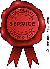 wachs, qualität, service, siegel