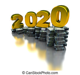 wachsen, wirtschaft, 2020, afrikas, süden