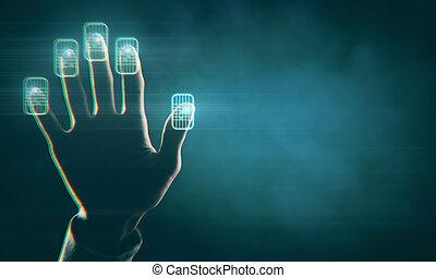 wachtwoord, concept, toekomst