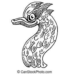 Wacky Bird - An image of a wacky bird drawing.