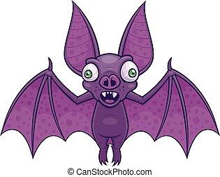 Wacky Vampire Bat - Vector cartoon illustration of a wacky...