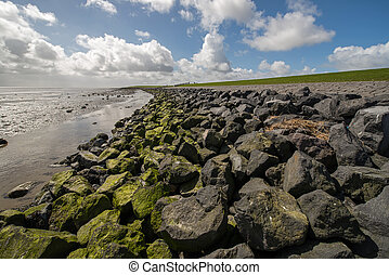 Waddendyke in the Netherlands