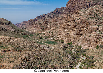 Wadi Dana canyon in Dana Biosphere Reserve, Jordan