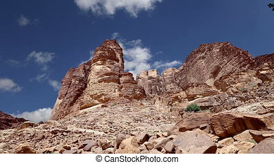 Wadi Rum Desert,Jordan,Middle East - Wadi Rum Desert,...