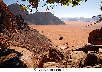 Wadi Rum Landscape Jordan - The wonderful landsscape view of...