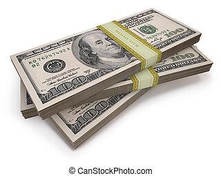 wads, dólares