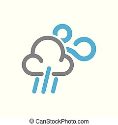 Waether icon on white background for graphic and web design, Modern simple vector sign. Internet concept. Trendy symbol for website design web button or mobile app.