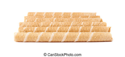 Wafel sticks isolated over the white background