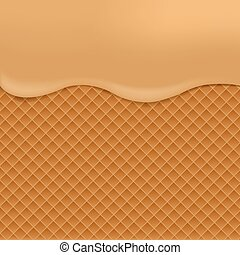 Wafer background illustration