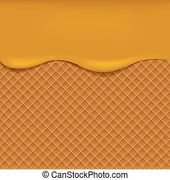 Wafer background with apple jam