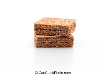 wafer biscuit with chocolate cream
