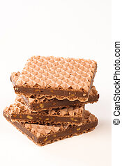 Wafer biscuits - Crunchy chocolate and hazelnut filled wafer...