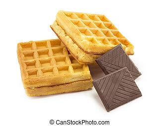 wafer, chocolate