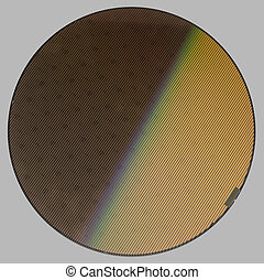 Wafer - frontal shot of a wafer in grey back